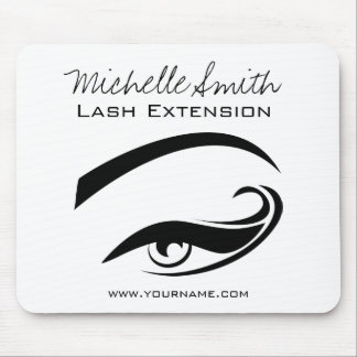 Black Eyeliner lash extension henna make up icon Mouse Pad
