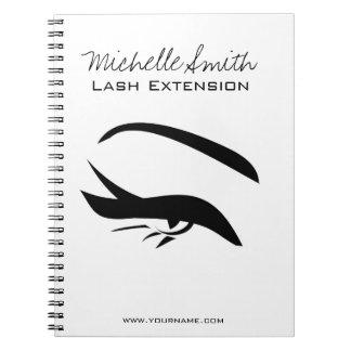 Black Eyeliner lash extension henna make up icon Notebooks