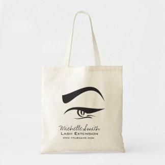 Black Eyeliner lash extension henna make up icon Tote Bag