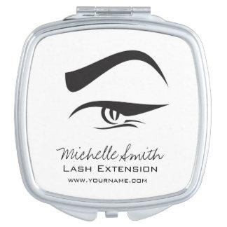 Black Eyeliner lash extension henna make up icon Vanity Mirror
