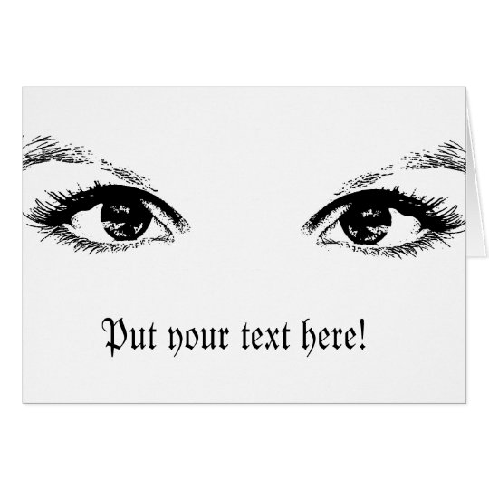 black eyes card