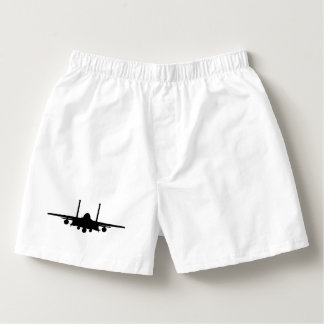 Black F-15E Strike Eagle with Custom Text Boxers