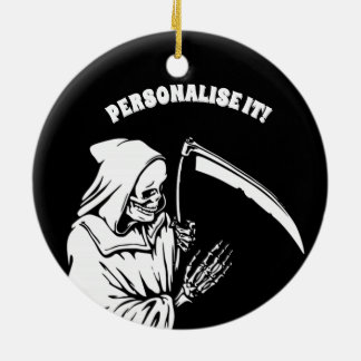 black  f death ceramic ornament