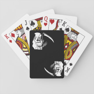 black  f death playing cards