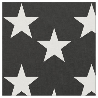 Black Fabric with White Star Pattern