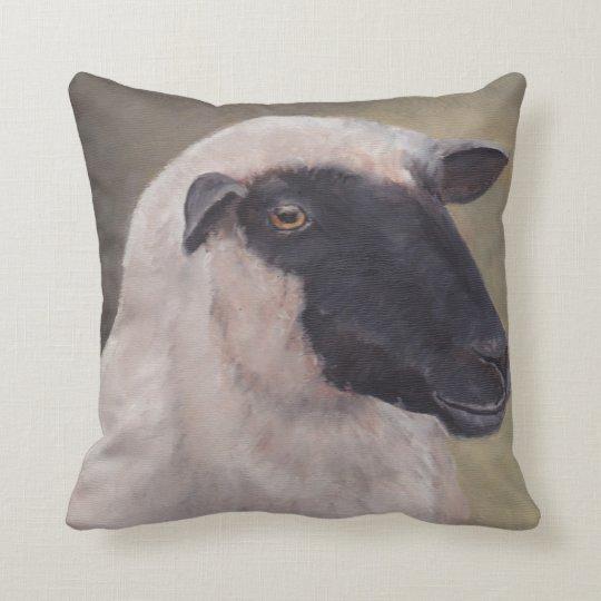 Black Face Sheep Art Pillow