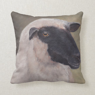 Black Face Sheep Art Pillow