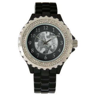 Black Face Watches for Women YOUR PHOTO