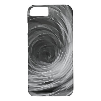 Black Faceted Swirl - Apple iPhone Case