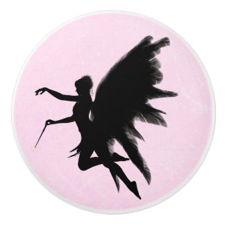 Black Fairy God Mother Pink Knob