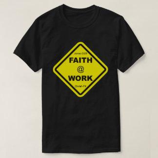 black faith at work roundneck t-shirt