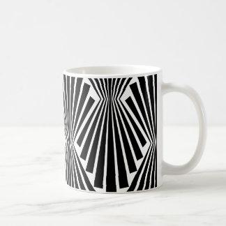 Black Fans Vintage Art Deco Custom Pattern Coffee Mug
