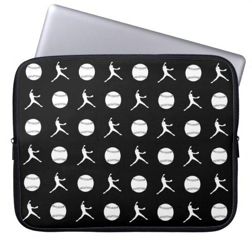 Black Fastpitch Laptop Sleeve