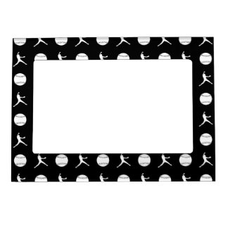 Black Fastpitch Pattern Magnetic Picture Frame