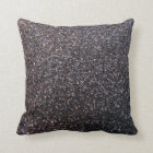 Black faux glitter graphic throw pillow