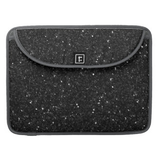 Black Faux Glitter & Sparkles Sleeve For MacBook Pro