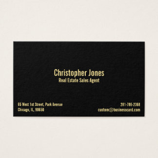 Black Faux Gold Elegant Professional Personalized Business Card