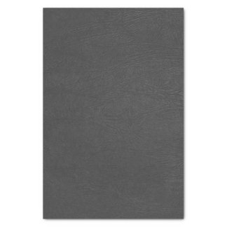 Black Faux Leather Tissue Paper
