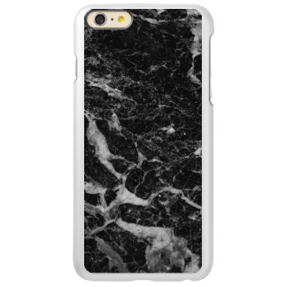 Black Faux Marble Stone Modern Design