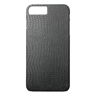 Black Faux Snakeskin Pattern iPhone 8 Plus/7 Plus Case