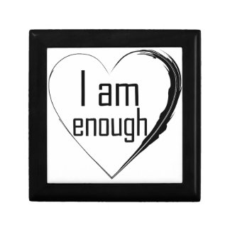 black feathered heart 'I am enough' Gift Box