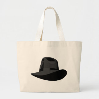 Black Fedora narrow ribbon Tote Bag
