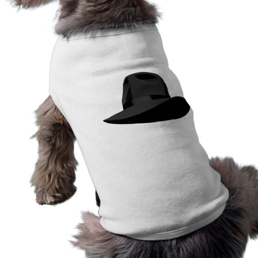 Black Fedora narrow ribbon Pet Clothes
