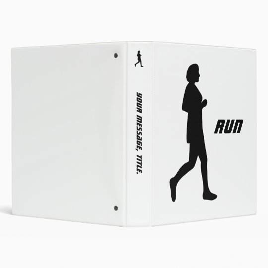 Black Female Silhouette Run Binder
