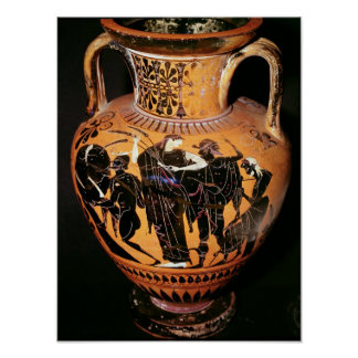 Black-figure attic vase poster