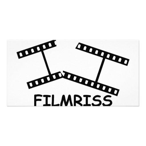 black Filmriss icon Photo Cards