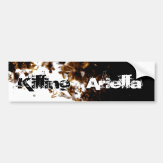 Black Fire Bumper Sticker