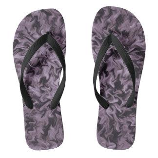 Black Fire Flip Flops