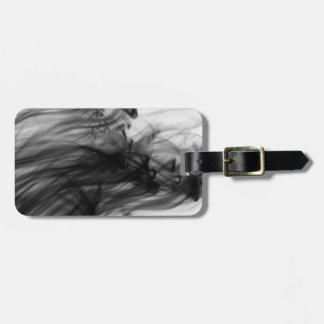 Black Fire I Luggage Tag with Leather Strap