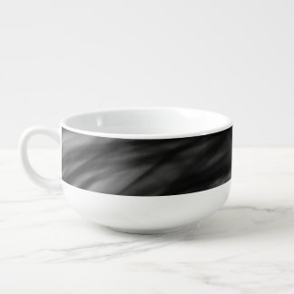 Black Fire I Soup Mug by Artist C.L. Brown