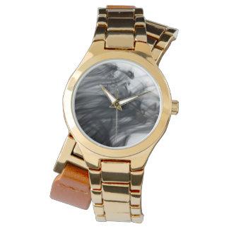 Black Fire I Women's Wraparound Gold Watch
