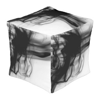 Black Fire II Outdoor Cubed Pouf by C.L. Brown