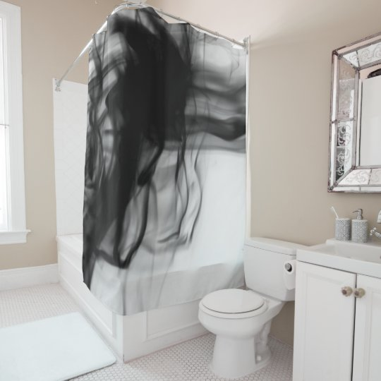 Black Fire II Shower Curtain by Artist C.L. Brown