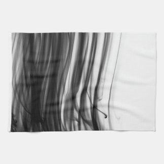 Black Fire III Kitchen Towel by Artist C.L. Brown