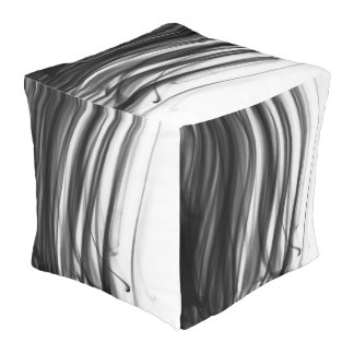 Black Fire III Outdoor Cubed Pouf by C.L. Brown