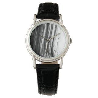 Black Fire III Women's Black Leather Strap Watch