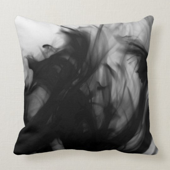 "Black Fire IV Cotton Throw Pillow 20"" x 20"""