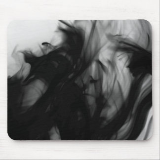 Black Fire IV Mousepad by Artist C.L. Brown