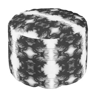 Black Fire IV Remix I Cotton Round Pouf