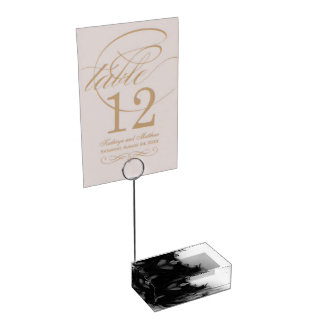 Black Fire IV Table Card Holder by C.L. Brown