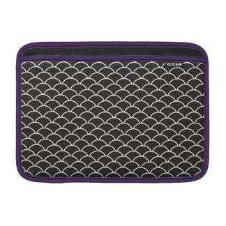 Black Fish Scales MacBook Sleeves