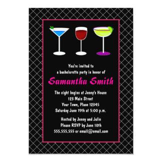 Black Fishnet & Hot Pink Bachelorette Party Invite