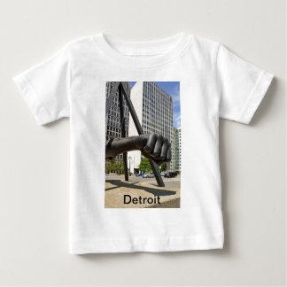 Black Fist Detroit Baby T-Shirt