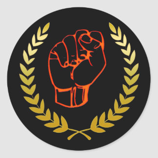 Black fist stickers