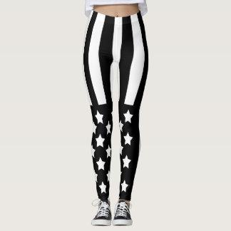 Black Flag Star Leggings by OASOTA