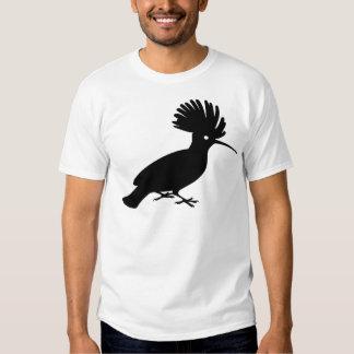 Black Flamboyant Hoopoe Bird Tee Shirt